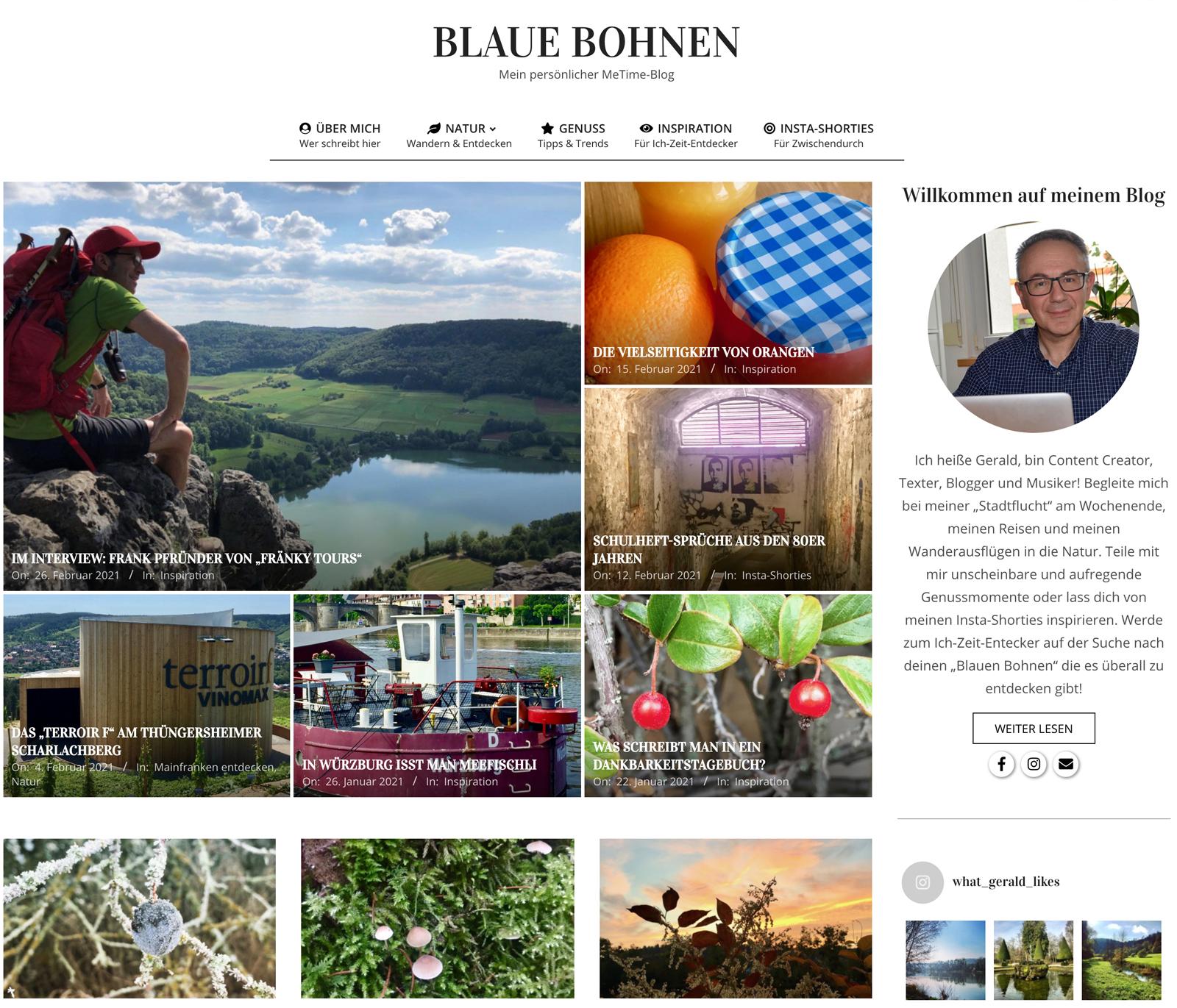 Blaue Bohnen Würzburg