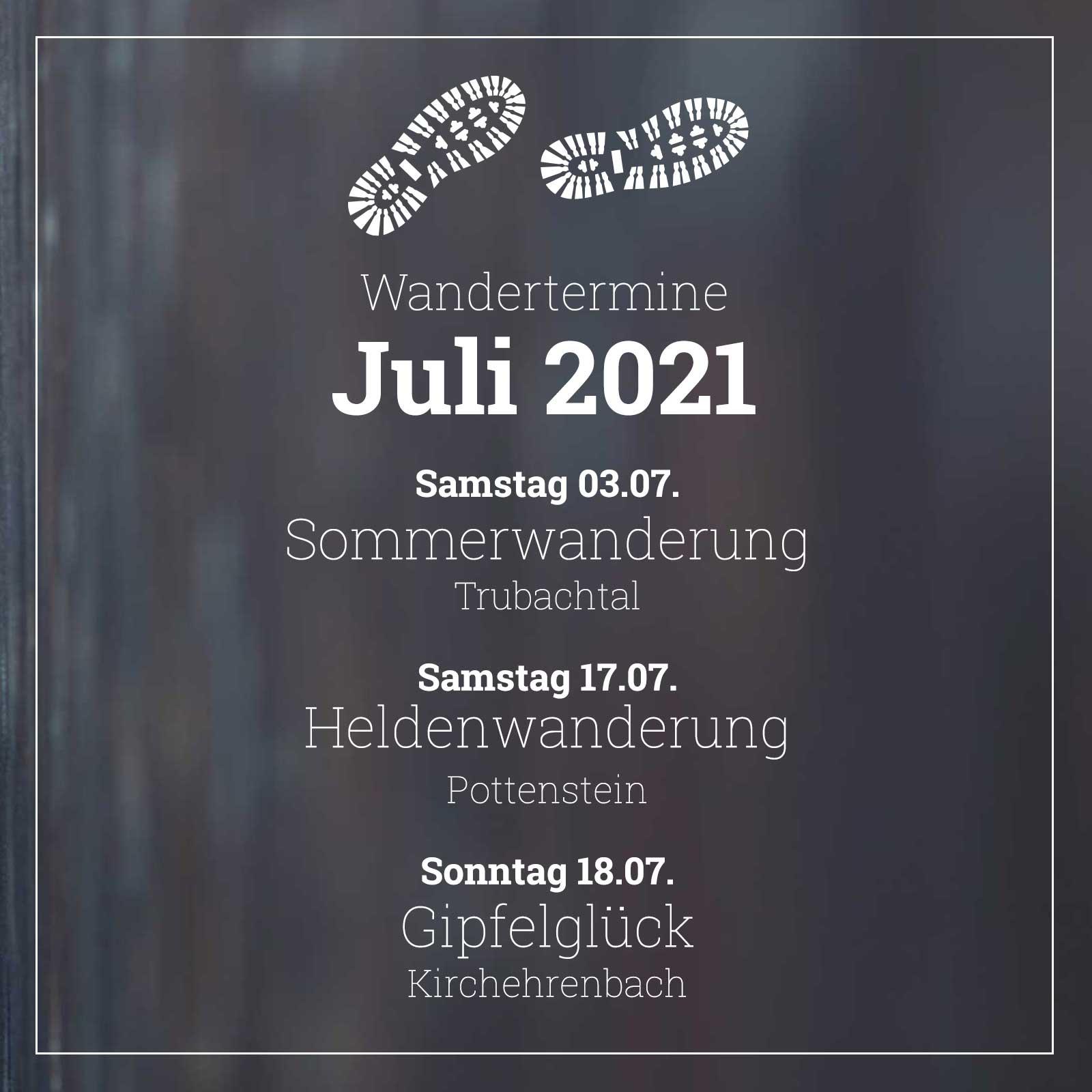 Fränky Tours Touren Juli 2021
